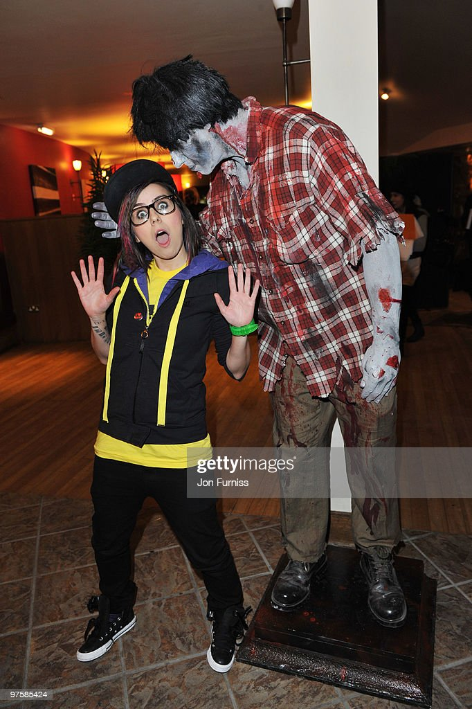 Lady Sovereign attends the launch of SAW Alive - the World's most extreme live horror maze at Thorpe Park on March 9, 2010 in Chertsey, England.