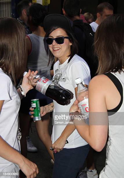 Lady Sovereign enjoys herself at the London Pride Parade on July 3 2010 in London England