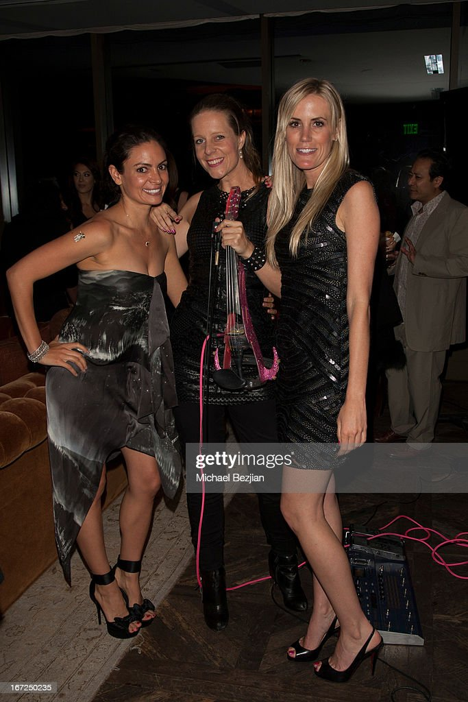 Lady Splash, Rachel Grace and Emily Shagley attend Mutt Match LA Fundraiser at Soho House on April 22, 2013 in West Hollywood, California.