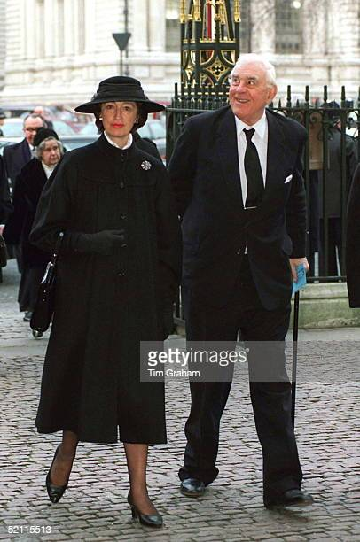 Lady Susan Hussey And Husband Marmaduke Hussey At The Memorial Service For Lord Home