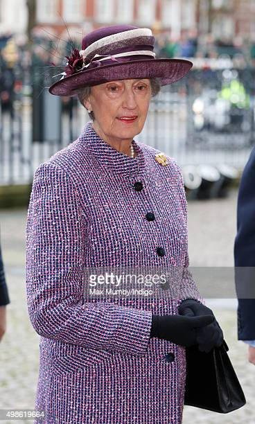Lady Susan Hussey attends a service to mark the Inauguration of the Tenth General Synod of the Church of England at Westminster Abbey on November 24...