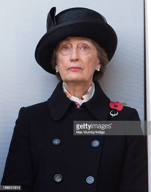 Lady Susan Hussey attends the annual Remembrance Sunday Service at the Cenotaph Whitehall on November 11 2012 in London England Remembrance Sunday...
