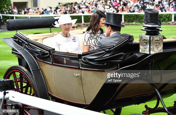 Lady Susan Hussey Mrs Michael Magnier Mr Michael Magnier and Lietenant Colonel Charles Richards arrive in the royal procession on day 2 of Royal...