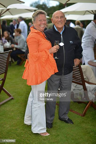 Lady Susie Moss and Sir Stirling Moss attend Cartier Style Luxe Lunch Reception at Goodwood Festival of Speed at Goodwood on July 1 2012 in...