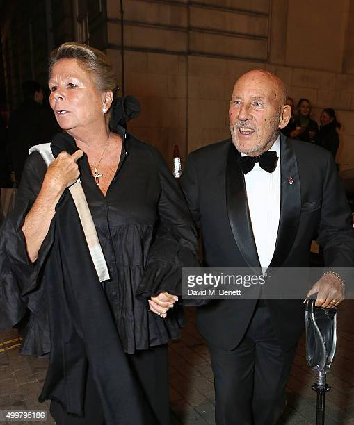 Lady Susie Moss and Stirling Moss attend the Shepherd Market Christmas Lights switch on and party on December 3 2015 in London England