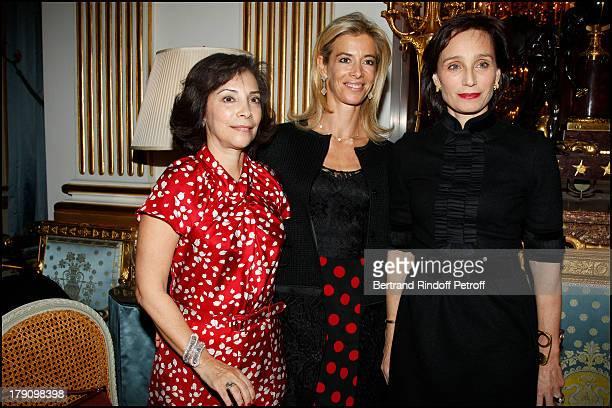 Lady Suzy Westmacott, Madame Brice Hortefeux, Kristin Scott Thomas at The Paris Premiere Of Le Discours D'Un Roi At Ugc Normandie, Followed By A...