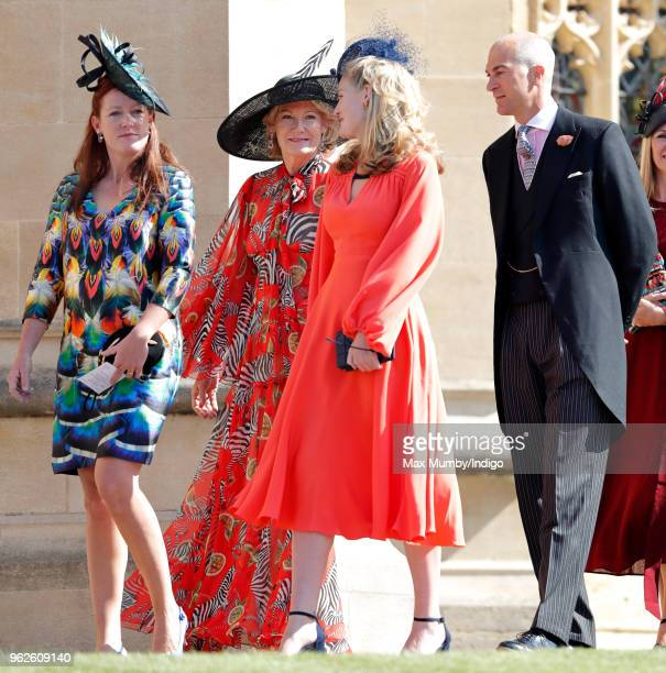 Lady Tamara van Cutsem Natalia Grosvenor Duchess of Westminster Lady Viola Grosvenor and Edward van Cutsem attend the wedding of Prince Harry to Ms...