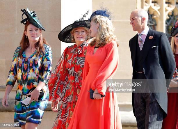Lady Tamara van Cutsem Natalia Grosvenor Duchess of Westminster Lady Viola Grosvenor and Edward van Cutsem attend the wedding of Prince Harry to Ms...