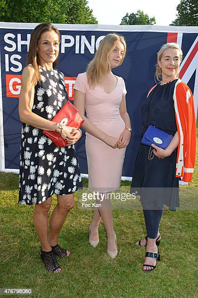 Lady Tania Rotherwick, Flora Alexandra Ogilvy and Anne Marie Verdin attend the British 'Summer Time 2015' cocktail at the British Embassy and shops...