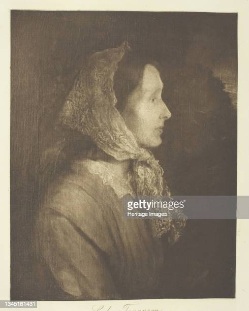 Lady Tennyson, circa 1893. [Portrait of Emily Tennyson, wife of British poet laureate Alfred, Lord Tennyson]. Photogravure, plate 7 from the album...