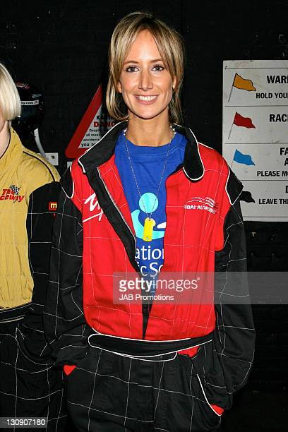 Lady Vctoria Hervey during GoKarting Extravaganza Hosted by Rick Parfitt Jr at Kings Cross GoKart Track in London Great Britain