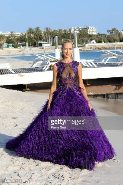 Lady Victoria Harvey is seen on the beach during the 72nd annual Cannes Film Festival at on May 21 2019 in Cannes France