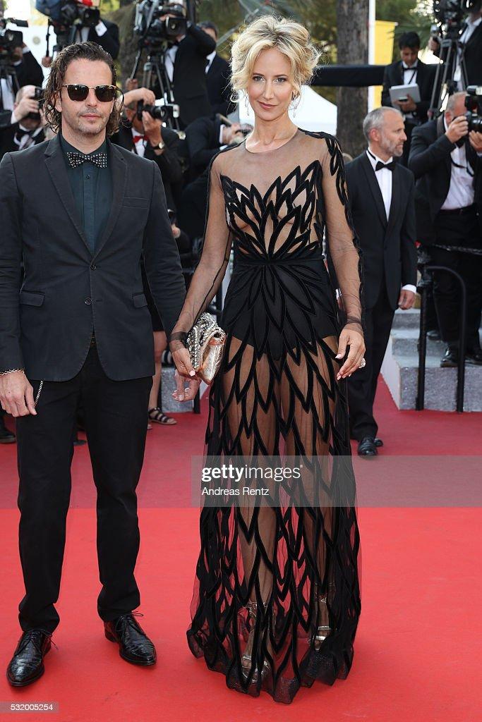 Lady Victoria Hervey and a guest attend the 'Julieta' premiere during the 69th annual Cannes Film Festival at the Palais des Festivals on May 17, 2016 in Cannes, France.