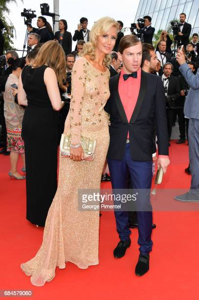 Lady Victoria Hervey and Christophe Guillarme attends the 'Loveless ' screening during the 70th annual Cannes Film Festival at Palais des Festivals...