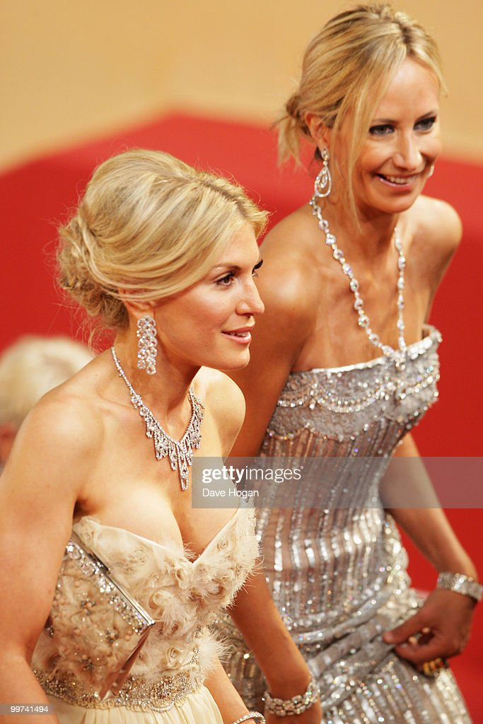 Lady Victoria Hervey and Hofit Golan (L) attend 'Outrage' Premiere at the Palais des Festivals during the 63rd Annual Cannes Film Festival on May 17, 2010 in Cannes, France.