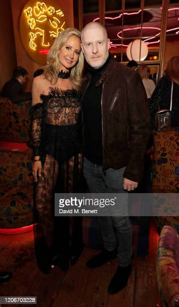 Lady Victoria Hervey and JD Malat attend the launch of Lady Victoria Hervey and Scott Henshall's new brand 'Hervey Henshall' during London Fashion...