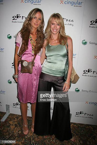 Lady Victoria Hervey and Lesa Amoore during Sony Ericsson and Cingular Wireless Present The 2 B Free Fall 2006 Collection Red Carpet at Regent...