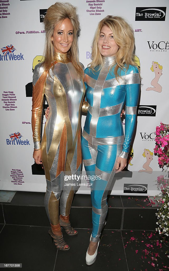 Lady Victoria Hervey and Meredith Ostrom attend the Filmmaker and Genlux Magazine Fashion Editor Amanda Eliasch Hosts BritWeek 2013 Cocktail Party on April 27, 2013 in West Hollywood, California.
