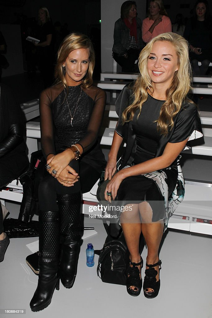 Lady Victoria Hervey and Noelle Reno seen at the Maria Grachvogel fashion show at Somerset House on September 17, 2013 in London, England.