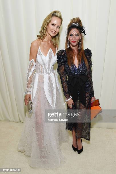Lady Victoria Hervey and Stacy Engman attend the 28th Annual Elton John AIDS Foundation Academy Awards Viewing Party sponsored by IMDb Neuro Drinks...