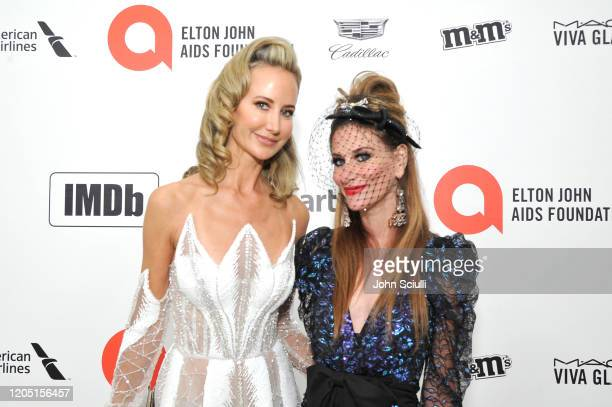 Lady Victoria Hervey and Stacy Engman attends Neuro Brands Presenting Sponsor At The Elton John AIDS Foundation's Academy Awards Viewing Party on...
