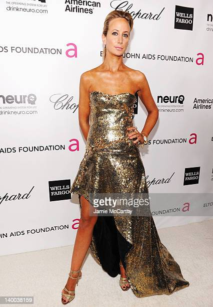 Lady Victoria Hervey arrives at the 20th Annual Elton John AIDS Foundation Academy Awards Viewing Party at The City of West Hollywood Park on...