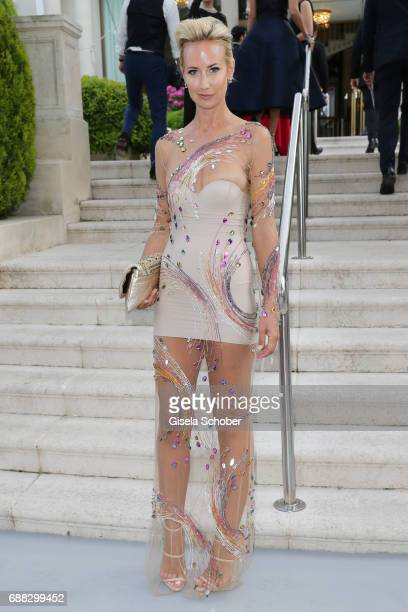 Lady Victoria Hervey arrives at the amfAR Gala Cannes 2017 at Hotel du CapEdenRoc on May 25 2017 in Cap d'Antibes France
