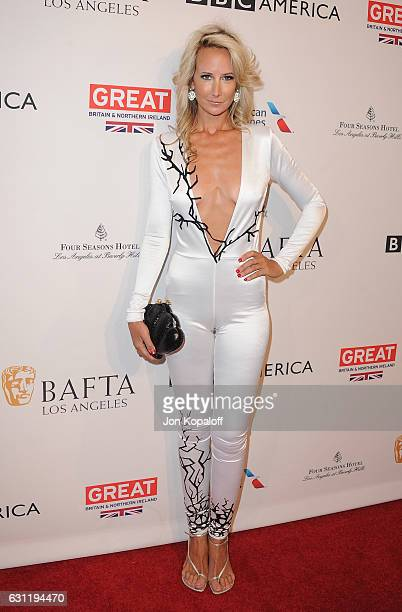 Lady Victoria Hervey arrives at The BAFTA Tea Party at Four Seasons Hotel Los Angeles at Beverly Hills on January 7 2017 in Los Angeles California