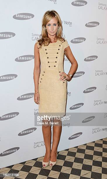Lady Victoria Hervey arrives at the Samsung Galaxy Note 10.1 launch party at One Mayfair on August 15, 2012 in London, England.