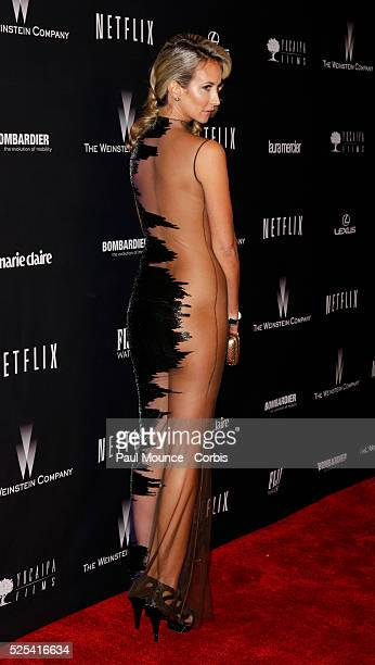 Lady Victoria Hervey arrives at the Weinstein Company Golden Globes AfterParty