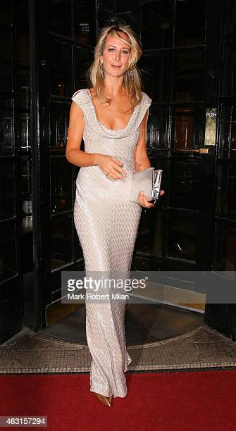 Lady Victoria Hervey attend the inaugural Roll Out The Red Ball in aid of the British Heart Foundation at The Park Lane Hotel on February 10 2015 in...