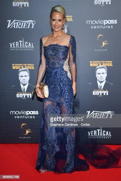 Lady Victoria Hervey attends a party in Honour of John Travolta's receipt of the Inaugural Variety Cinema Icon Award during the 71st annual Cannes...