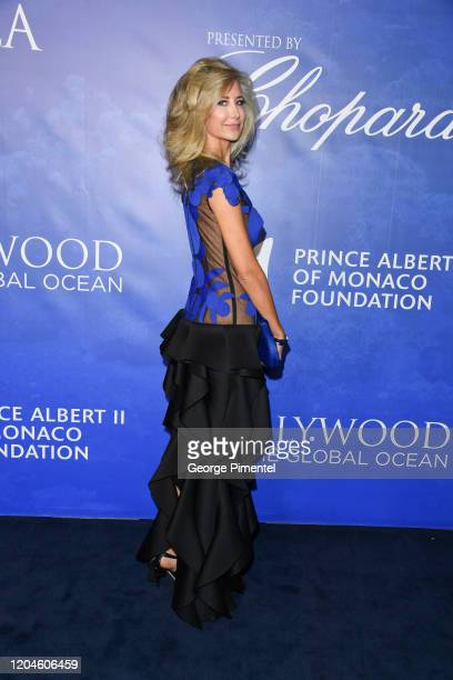 Lady Victoria Hervey attends the 2020 Hollywood For The Global Ocean Gala Honoring HSH Prince Albert II Of Monaco at Palazzo di Amore on February 06...