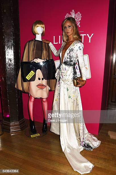 """Lady Victoria Hervey attends the after party of the world premiere of """"Absolutely Fabulous: The Movie"""" at Liberty on June 29, 2016 in London, England."""