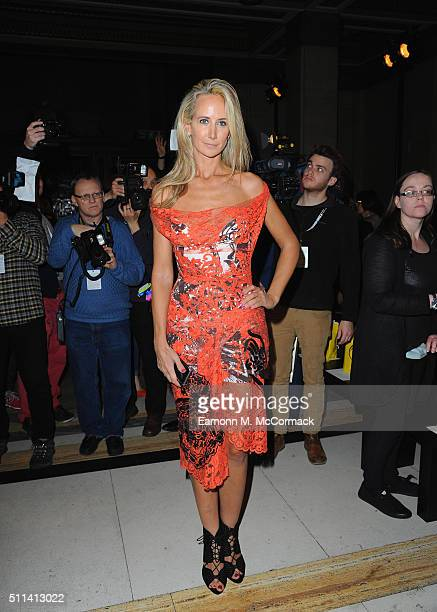 Lady Victoria Hervey attends the Ashley Isham show during London Fashion Week Autumn/Winter 2016/17 at on February 20 2016 in London England