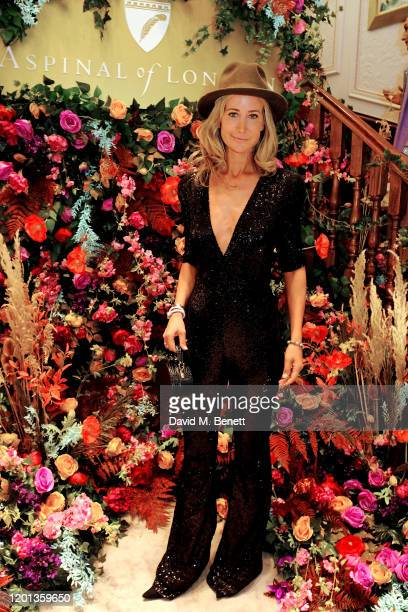 Lady Victoria Hervey attends the Aspinal of London AW20 London Fashion Week Presentation on February 16 2020 in London England