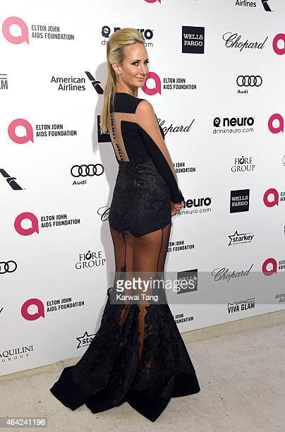 Lady Victoria Hervey attends the Elton John AIDS Foundation's 23rd annual Academy Awards Viewing Party at The City of West Hollywood Park on February...