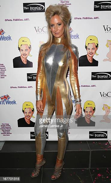 Lady Victoria Hervey attends the Filmmaker and Genlux Magazine Fashion Editor Amanda Eliasch Hosts BritWeek 2013 Cocktail Party on April 27 2013 in...