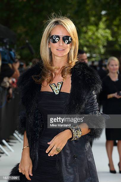 Lady Victoria Hervey attends the front row for the Burberry Prorsum show on day 4 of London Fashion Week Spring/Summer 2013 on September 17 2012 in...