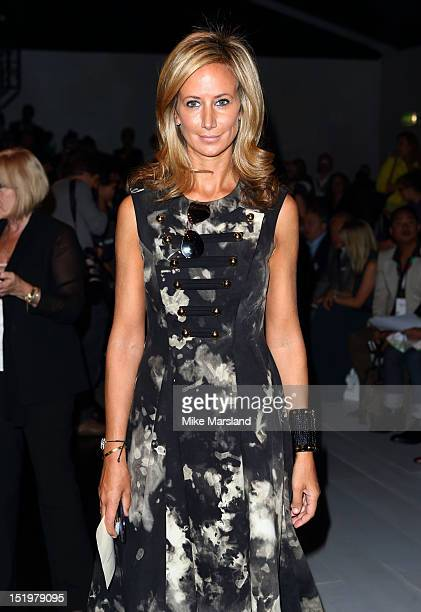 Lady Victoria Hervey attends the front row for the Maria Grachvogel show on day 1 of London Fashion Week Spring/Summer 2013 at the Courtyard Show...