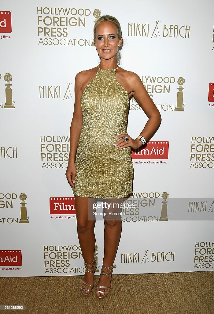 Lady Victoria Hervey attends The Hollywood Foreign Press Association Honour Filmaid International party during The 69th Annual Cannes Film Festival on May 13, 2016 in Cannes, France.