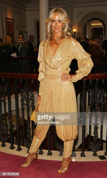 Lady Victoria Hervey attends the Joshua Kane 'Fantasy' show during London Fashion Week September 2017 at the London Palladium on September 15 2017 in...