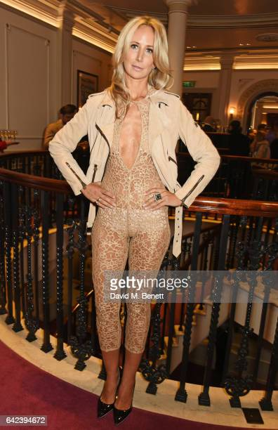 Lady Victoria Hervey attends the Joshua Kane show during the London Fashion Week February 2017 collections at the London Palladium on February 17...