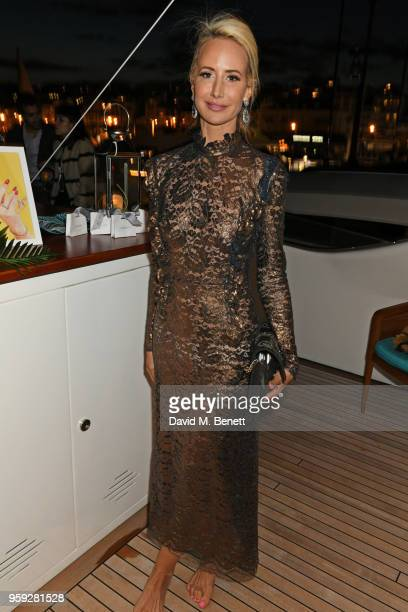 Lady Victoria Hervey attends the Lark and Berry launch party on a private yacht during the 71st Cannes Film Festival on May 16 2018 in Cannes France