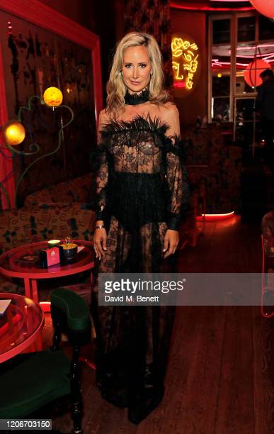 Lady Victoria Hervey attends the launch of Lady Victoria Hervey and Scott Henshall's new brand 'Hervey Henshall' during London Fashion Week February...
