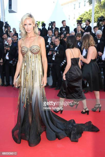 Lady Victoria Hervey attends the Okja screening during the 70th annual Cannes Film Festival at Palais des Festivals on May 19 2017 in Cannes France
