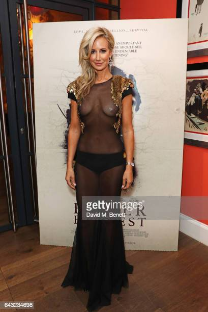 Lady Victoria Hervey attends the UK Gala Screening of 'Bitter Harvest' at The Ham Yard Hotel on February 20 2017 in London England