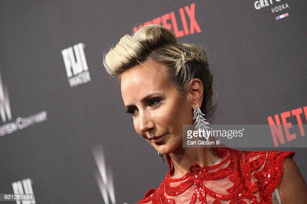 Lady Victoria Hervey attends The Weinstein Company and Netflix Golden Globe Party presented with FIJI Water Grey Goose Vodka Lindt Chocolate and...