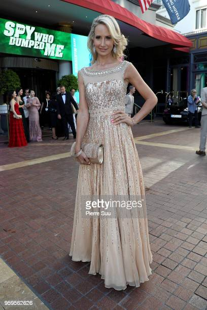 Lady Victoria Hervey is seen at 'Le Majestic' hotel during the 71st annual Cannes Film Festival at on May 17 2018 in Cannes France