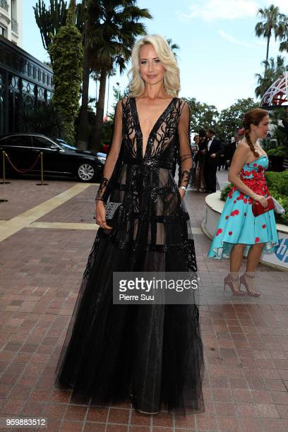 Lady Victoria Hervey is seen at 'Le Majestic' hotel during the 71st annual Cannes Film Festival at on May 18 2018 in Cannes France